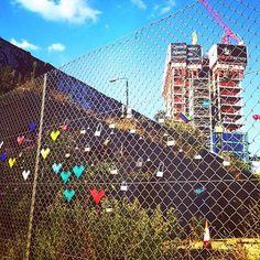 The Shoreditch Love Lock Fence #love locks #love #bridge #lock #paris