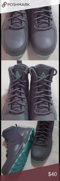 Nike ACG Manoa boots Size 5youth brand new gray/ turquoise no box Nike ACG Shoes Boots