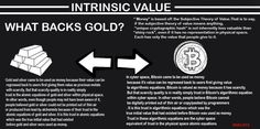 Intrinsic Value: What Backs Gold? Value Meaning, Intrinsic Value, Bitcoin Miner, Crypto Currencies, Blockchain, Physics, Meant To Be, Sayings, Gold