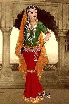 Ruqaiya Sultan Begum ~ by kaurwaki ~ created using the Sari doll maker | DollDivine.com