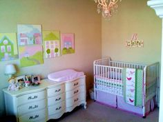 tips & tricks to decorate a girl's nursery on the CHEAP, from CampClem blog