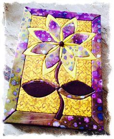 Mais um projeto realizado! Caderno grande revestido com tecidos especiais! Patchwork embutido.