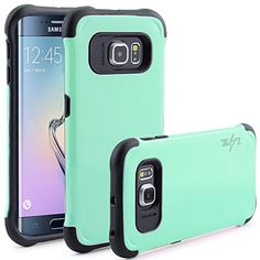 S6 Edge Case, LK [Shock Absorbent] Samsung Galaxy S6 Edge Amor Case, Dual Layer High Impact Resistant Drop Protection Hybrid Defender Rugged Hard Protective Case Cover For Samsung Galaxy S6 Edge, Mint #samsung #S6 #edge