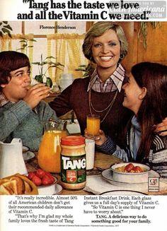 Florence Henderson's family loves Tang (1978)