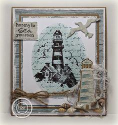 masculine nautical Hoping to Sea you soon card by Ineke Bezemer
