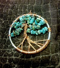 #TreeofLife #Pendant with #Turquoise #jewelry The Knotty Beader Boutique Fernandina, Beach, FL