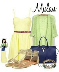 Disney Inspired Outfit Color Dress, Disney Inspired Outfits, Cloth, Mulan Outfit, Inspir Outfit, Mulan Inspired Outfit