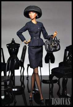 Class - we adore this doll, serious 'dollitude' we think:) #black #Barbie #dolls