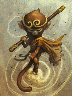 #Yellowmenace:ART of the MONKEY KING - ARTIST: Felix Ip - Sun Wukong (孙悟空) as you've never seen him, envisioned by 16 inspired artists from 8 countries. + http://yellowmenace8.blogspot.com/2015/01/art-sun-wukong-monkey-king.html