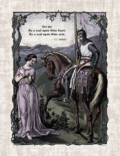 Items similar to Swinburne - Victorian Reproduction Print Romantic Art Poem - Medieval Lady Knight Chivalric Love Poetry Pre-Raphaelite Century Medieval on Etsy Victorian Poetry, Victorian Art, Medieval Knight, Medieval Art, Medieval Times, Victorian Illustration, Illustration Art, Illustrated Words, Different Kinds Of Art