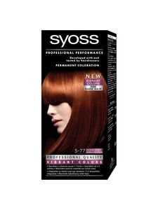 syoss color professional permanent coloration 5 77 sunlit copper hair color - Syoss Coloration