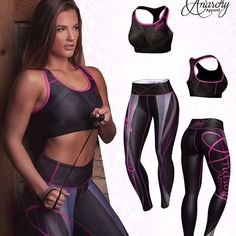 ANARCHY Apparel Plasma Legging and Matching Sports Bra. Plasma black/pink with pink stitches and logos. The white details enhance your body's natural curves.😍 . Available Sizes. S, M, L, XL Express Postage On All Orders.🚚 . 8 Luxury Active Apparel Brands To Choose From! . Find your perfect workout Outfit: @gymandfitnessfashion.com.au👈 . www.gymandfitnessfashion.com.au . #gymandfitnessfashion #gff #liftgirls #fitchicks #fitfam #fitnessgoals #girlswholift #gymlife #healthyme #healthlife