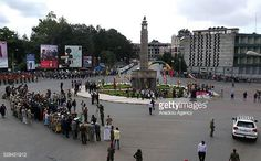 The clock tower at the Miazia 27 square shows the time when Ethiopian patriots arrived in the city in 1941 during a national holiday celebrating the. National Holidays, Patriots, Tower, Clock, Street View, Shows, City, Celebrities, Pictures