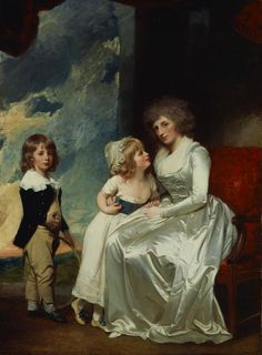 Henrietta, Countess of Warwick and her Children by George Romney