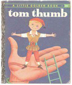 Vintage-Childrens-Little-Golden-Book-TOM-THUMB-1st-Ed