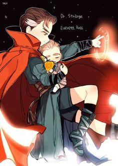 Doctor Strange and Everett Ross