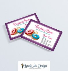 57 best etsy business cards images on pinterest business card bakery business card business card designs donut business card printable business card design reheart Image collections