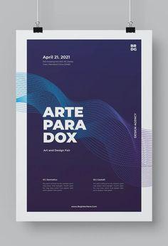 Minimal Modern Poster Template AI, EPS Design Art, Modern Design, Minimalism, Poster Templates, Contemporary Design