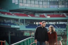 Fenway Park engagement session by Jennifer Bach Photography
