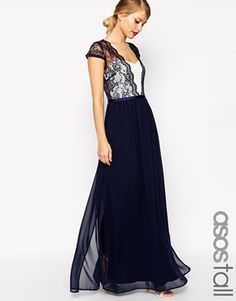 Enlarge ASOS TALL Scalloped Lace Maxi Dress