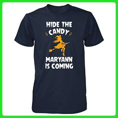 Hide The Candy Maryann Is Coming Halloween Gift - Unisex Tshirt Navy 4XL - Holiday and seasonal shirts (*Amazon Partner-Link)