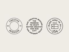 Creative Mission Badges: