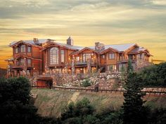 Pure Country — logcabinstyles: Well hello log mansion! ...