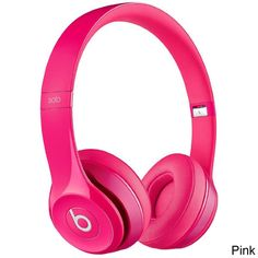 Beats Solo 2 Dr Dre Wired On-Ear Headphone for iPhone / Android / Windows - Pink - New in Retail Package. Pink Headphones, Bluetooth Headphones, Beats Headphones, Over Ear Headphones, Sports Headphones, Beats Solo, Music Beats, Beats Audio, Beats By Dre