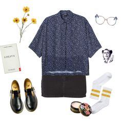 Untitled #127 by greerveronica on Polyvore featuring Monki, Ksubi, Dr. Martens and Anna Sui