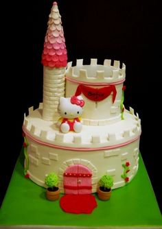 Hello Kitty castle By manomi on CakeCentral.com
