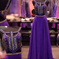 Buy High Quality Floor Length Prom Dress - Purple A-Line with Rhinestone for Women Prom Dresses 2016 under $179.99 only in Dressywomen.