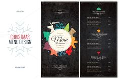 nice Special Christmas festive menu CreativeWork247 - Fonts, Graphics, Them...