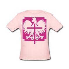 Polska Crucifix Baby Shirt Rosa [Magenta/Samtig] - Baby Bio-Kurzarmshirt