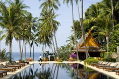 Phuket - Amanpuri Resort. Obvi the pool is pretty sweet, as are the cocktails.
