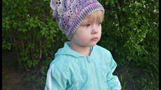 Косынка для девочки крючком Часть 3/ Вязание для начинающих/ Crochet hat