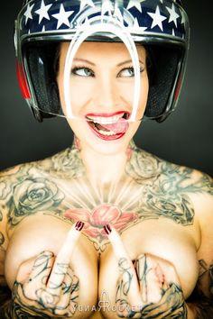 Flower Tattto by Randy Rocket - RocketGarage - Cafe Racer Magazine