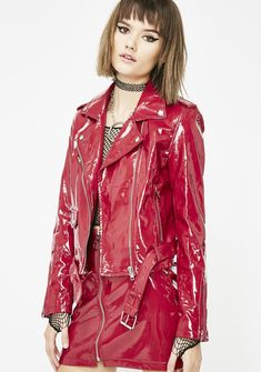 Free, fast shipping on Blazing Hysteria Vinyl Jacket at Dolls Kill, an online boutique for trendy & street style clothing. Shop fast fashion clothes & accessories here. Raincoat Jacket, Green Raincoat, Moto Jacket, Rain Jacket, Pvc Skirt, Vinyl Raincoat, Vinyl Clothing, Leder Outfits, Rain Wear