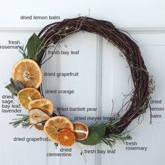 How to make a dried fruit and herb wreath - - How to make a dried fruit and herb wreath awesome wreaths diagram of fruit and herb placement on wreath Christmas Time, Christmas Crafts, Christmas Decorations, Pagan Christmas, Burlap Christmas, Primitive Christmas, Christmas Snowman, Christmas Christmas, Navidad Natural