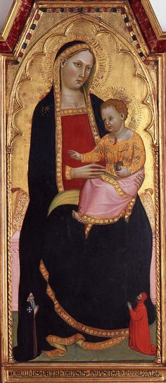 Cecco di Pietro (Italian, active 1370-died before 1402),Madonna and Child with Donors, 1386, tempera on wood,