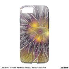 Luminous Flower, Abstract Fractal Art iPhone 7 Case