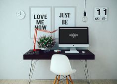 Free iMac Mockup With Two Wall Frames (46.6 MB) | Graphic Twister