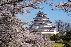 Tsuragajo-Castle, Fukushima, Japanese castle, historic site