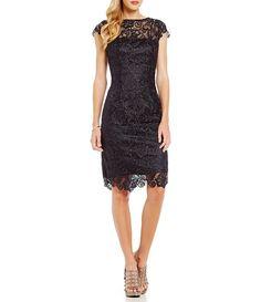 JS Collections Lace Shift Dress