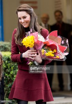 Catherine Duchess of Cambridge visits MIST a child and adolescent mental health project on Feb. 22, 2017 in Torfaen