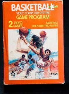 Basketball (Atari for sale online Basketball Video Games, Basketball Practice, Basketball Games, Basketball Players, Vintage Video Games, Classic Video Games, Basketball Bracket, Retro Videos, Games Today
