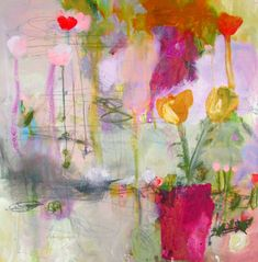 """""""It is the only story I can tell because it's my own"""" 20 x 20 canvas Wendy McWilliams Art Painting, Watercolor Wall Art, Floral Art, Abstract Painting, Painting, Abstract Art, Abstract, Pink Art, Abstract Floral Paintings"""