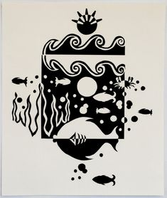 Under the Sea Notan by ~cheer123chick123 on deviantART