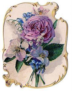 *The Graphics Fairy LLC*: Victorian Clip Art - Stunning Rose Bouquet Perfume Ad Clip Art Vintage, Éphémères Vintage, Vintage Rosen, Vintage Labels, Vintage Ephemera, Vintage Cards, Vintage Postcards, Vintage Prints, Vintage Floral