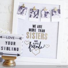 National Siblings Day Letterboard from Heidi Swapp by Jamie Pate  |  @jamiepate for @heidiswapp