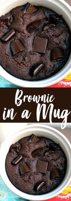 Brownie in a Mug - the best brownie in a mug recipe!
